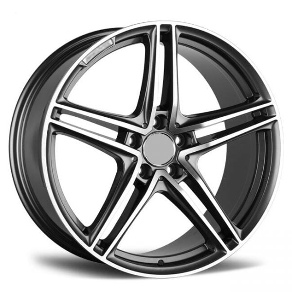 REP 864 PC BLACK MACHINED LIP 21X9 5X130 WHEEL & TYRE PACKAGE