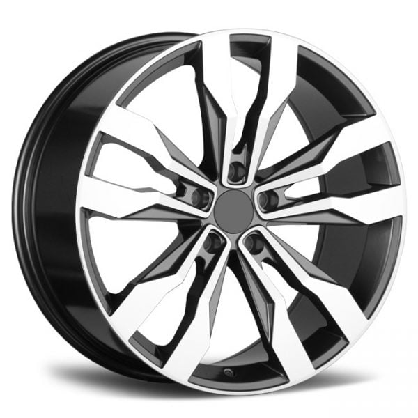REP 845 MB GREY MACHINED FACE 19X8 5X112 WHEEL & TYRE PACKAGE