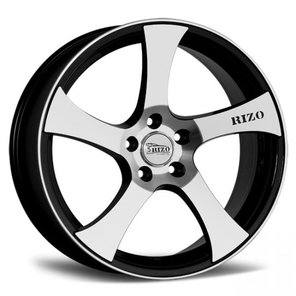 RIZO RS 1 SPORT SERIES BLACK MACHINED FACE 19X8.5 5X120 WHEEL & TYRE PACKAGE