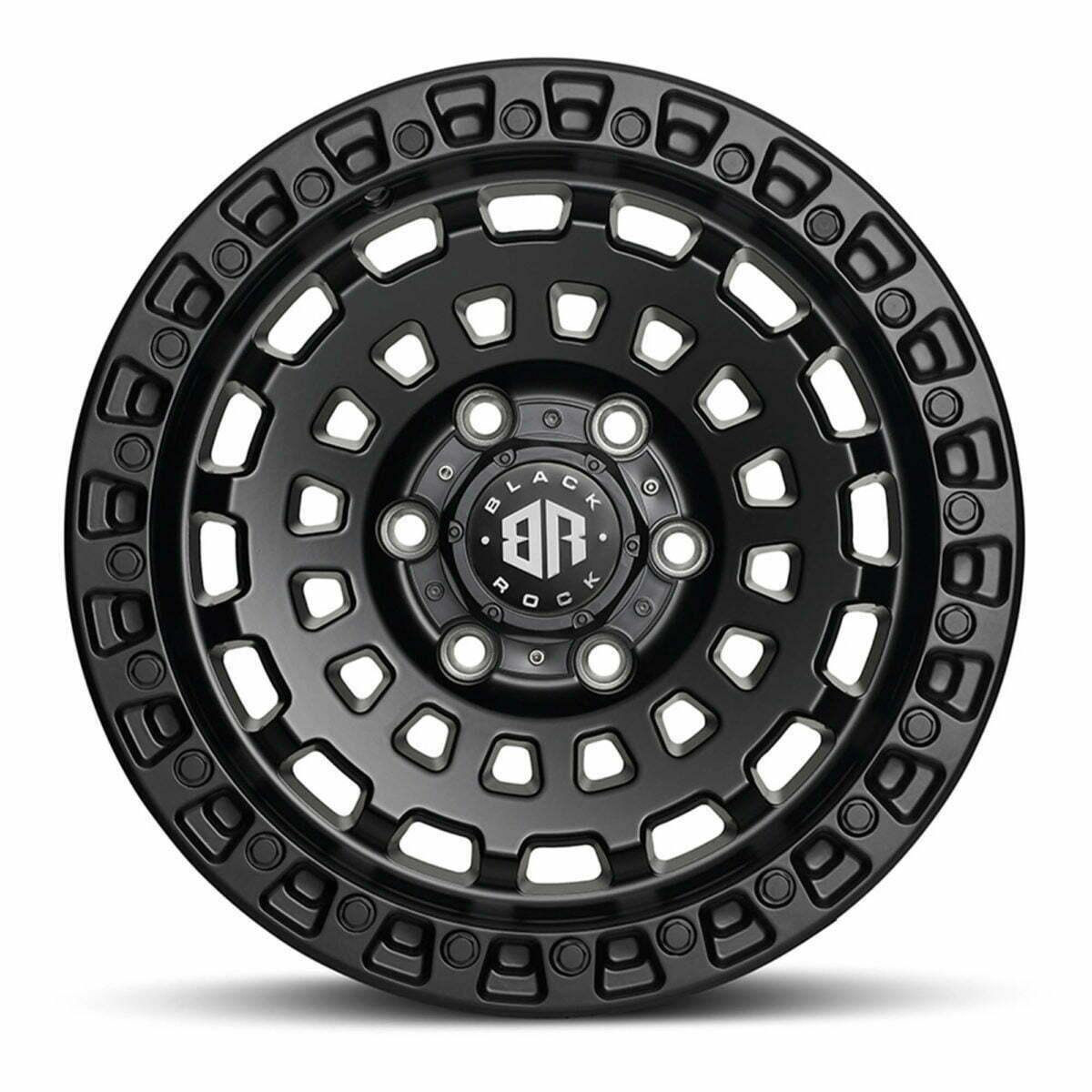 Black Rock HEX Satin Black Wheels 4x4 Rims