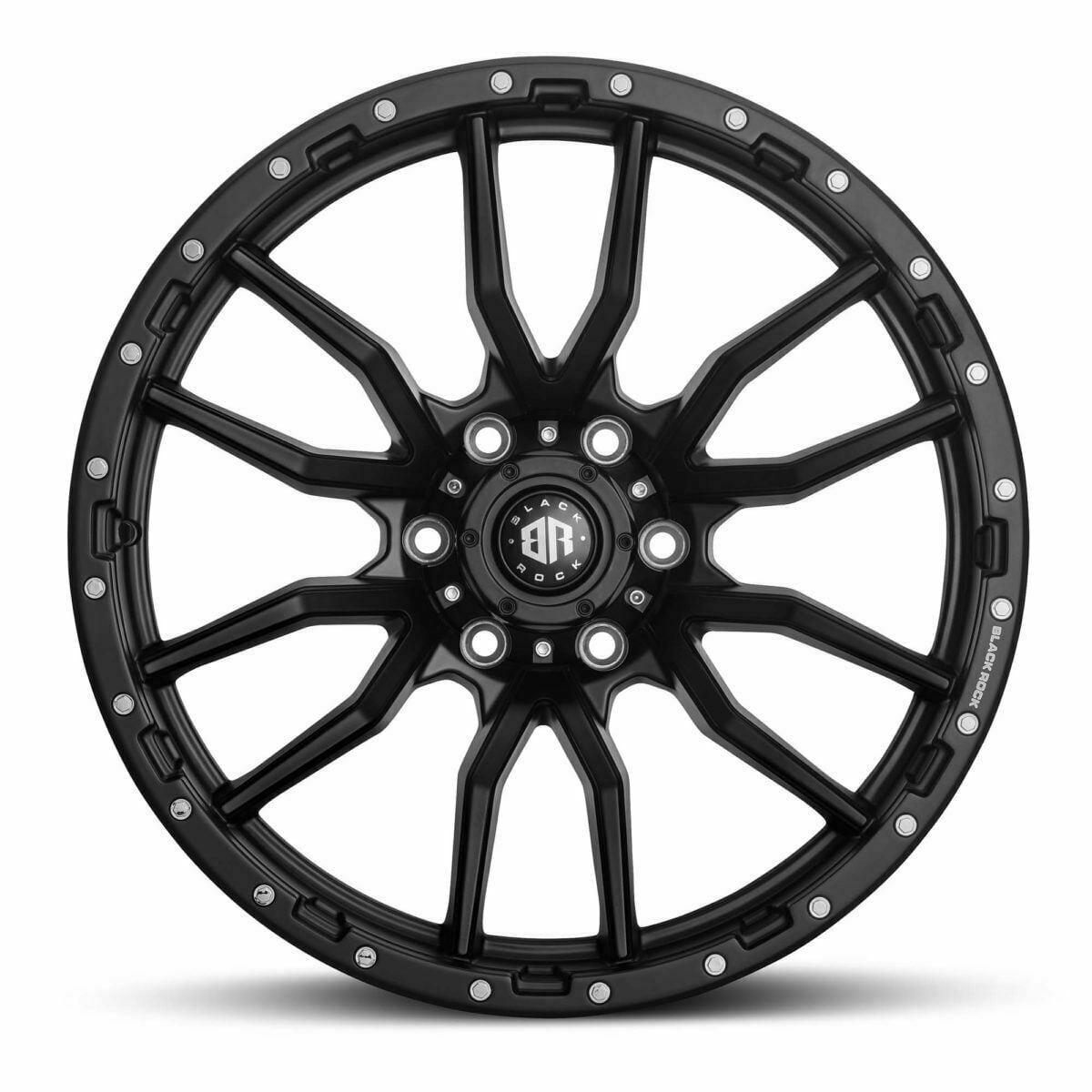Black Rock Rambler Satin Black 20x9 wheels 4x4 rims