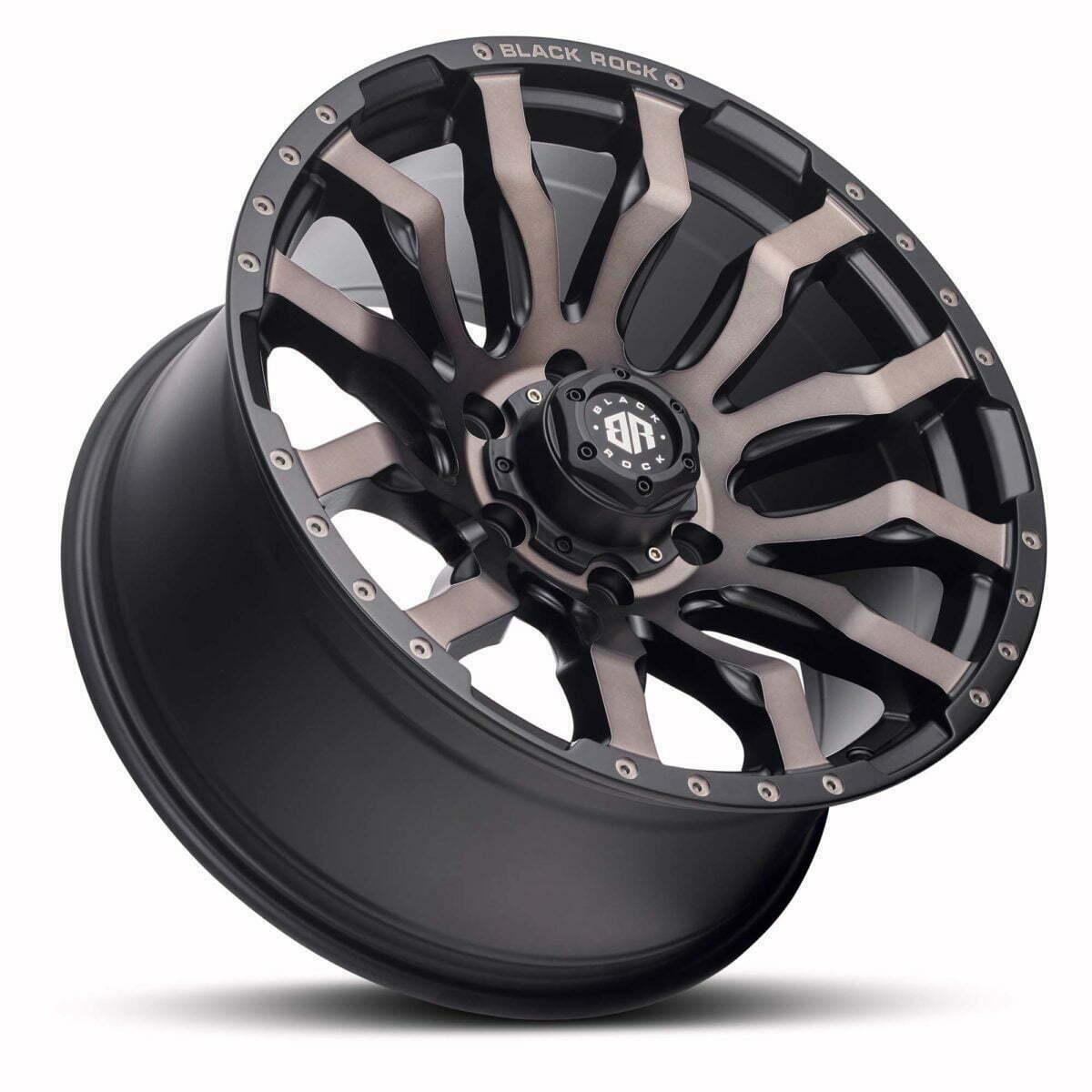 Black Rock Vulcan Matte Black Bronze Tint Wheels Off-Road Rims