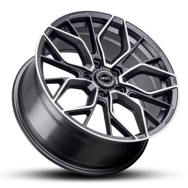GT Form Marquee Satin Gunmetal Machined Face 18x8 Wheels Car Rims