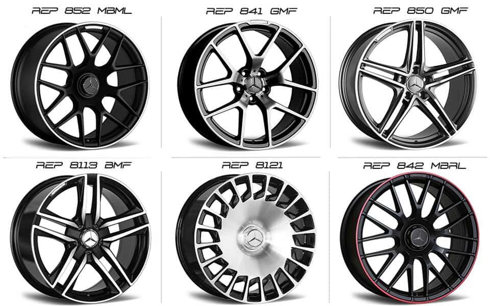 Mercedes AMG aftermarket wheels