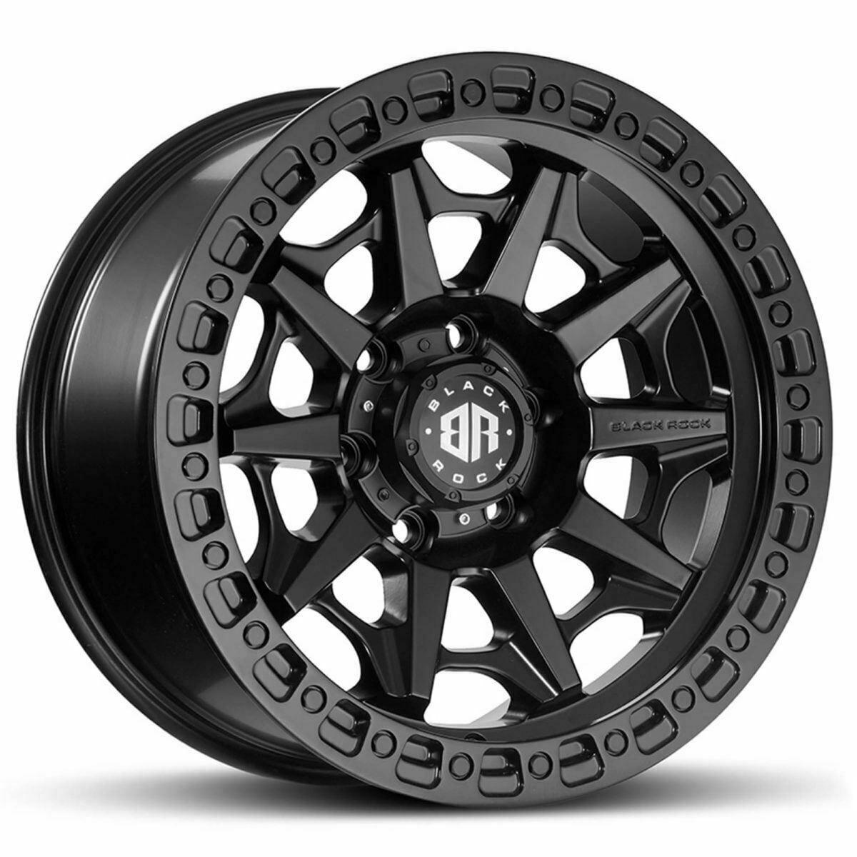 Black Rock Cage Satin Black Wheels Off-Road Rims