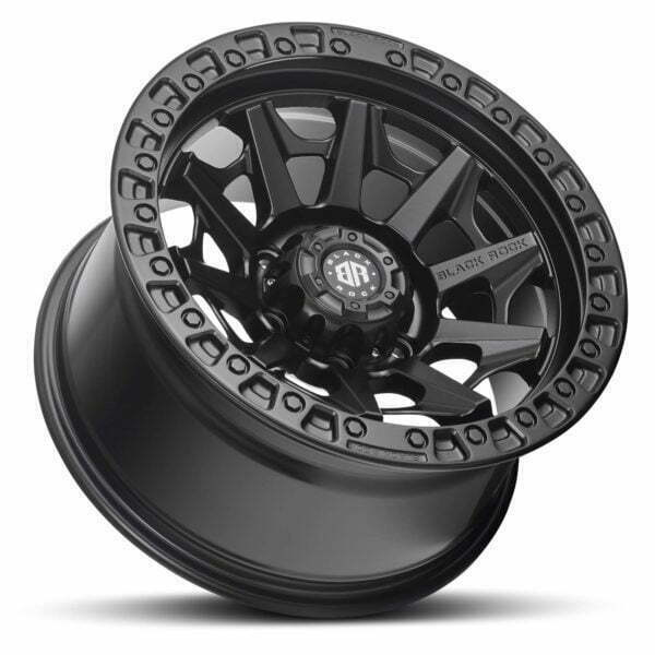 Black Rock Cage Satin Black Wheels Off-Road Rims