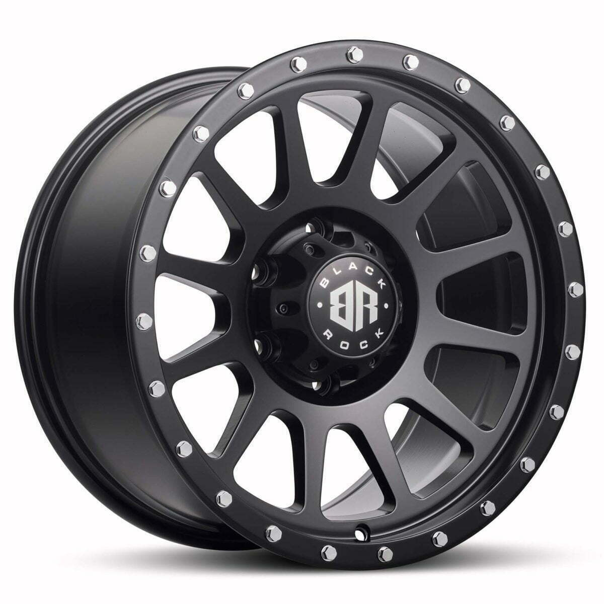 Black Rock Omega Satin Black Wheels Off-Road Rims