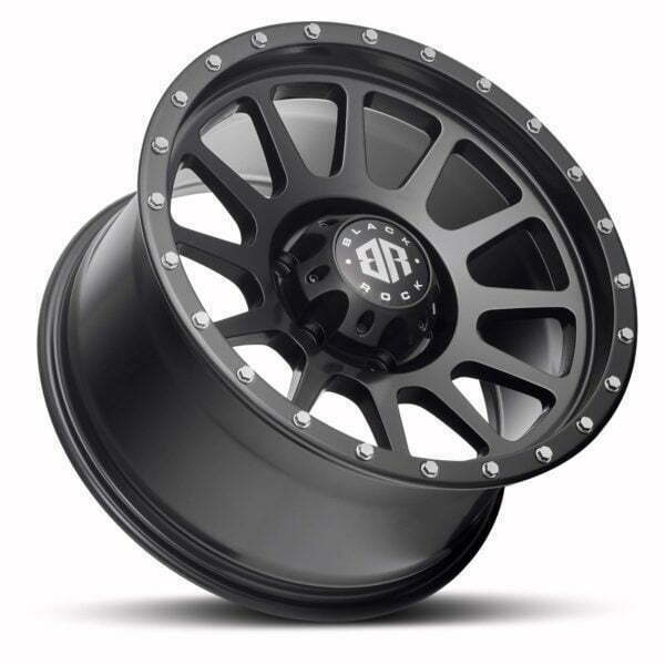 Black Rock Omega Satin Black Wheels Off-Road Rims