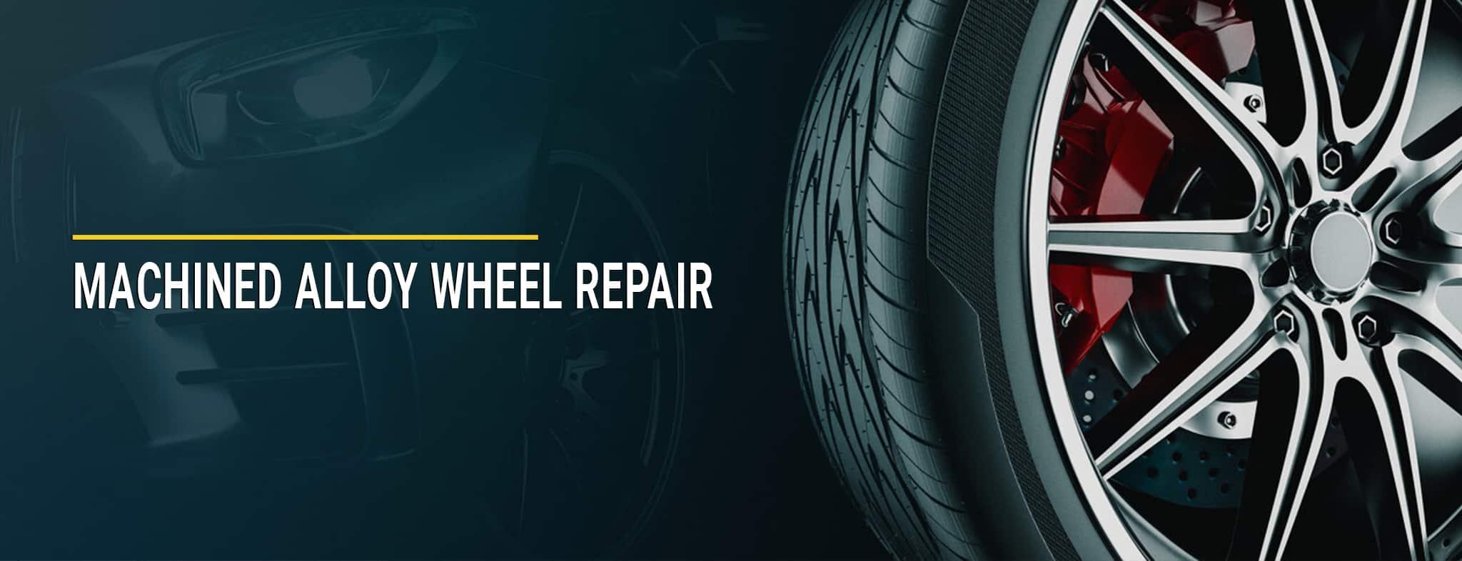 machined alloy wheel repair service