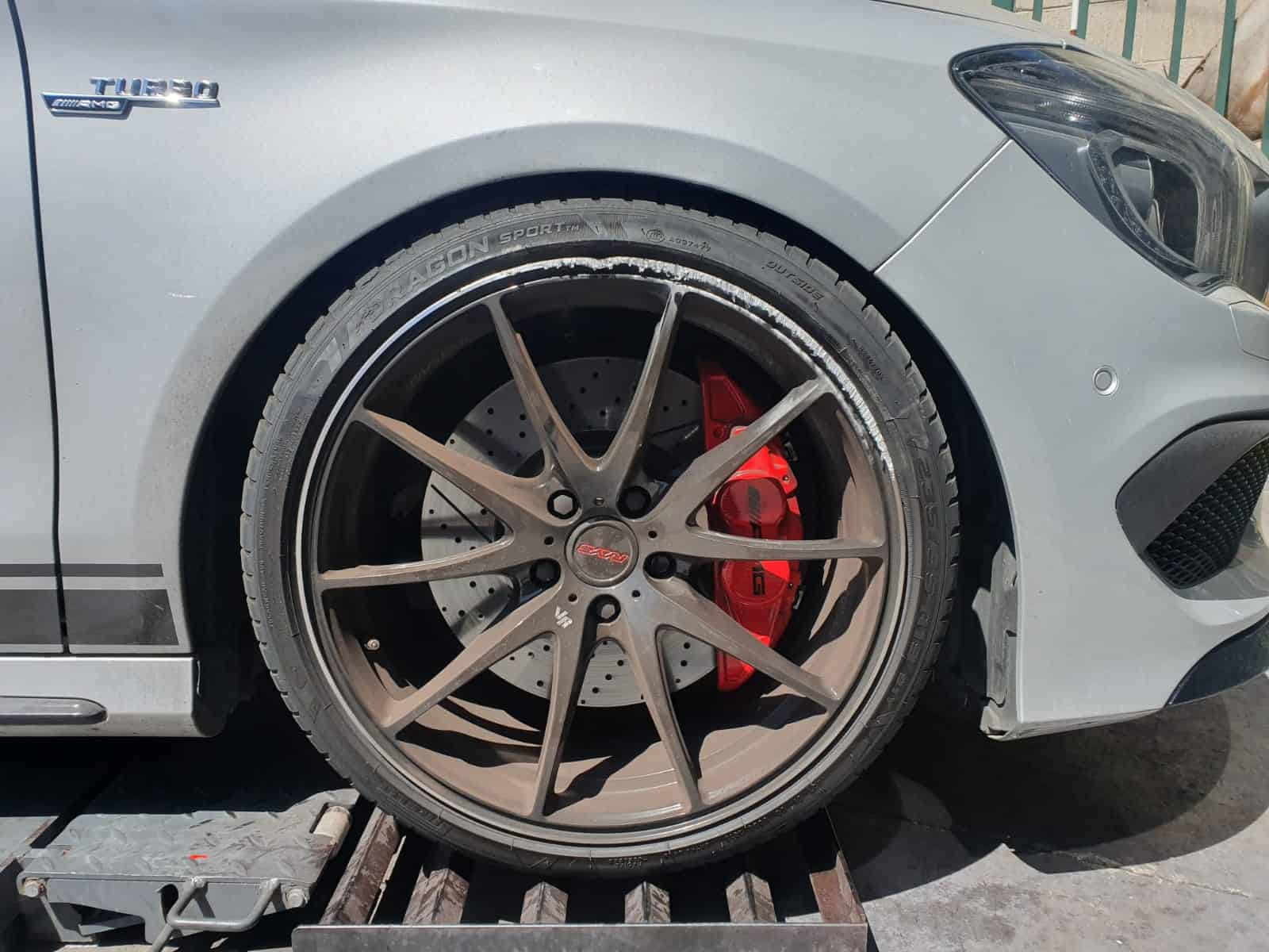 rays g25 alloy wheel repair before