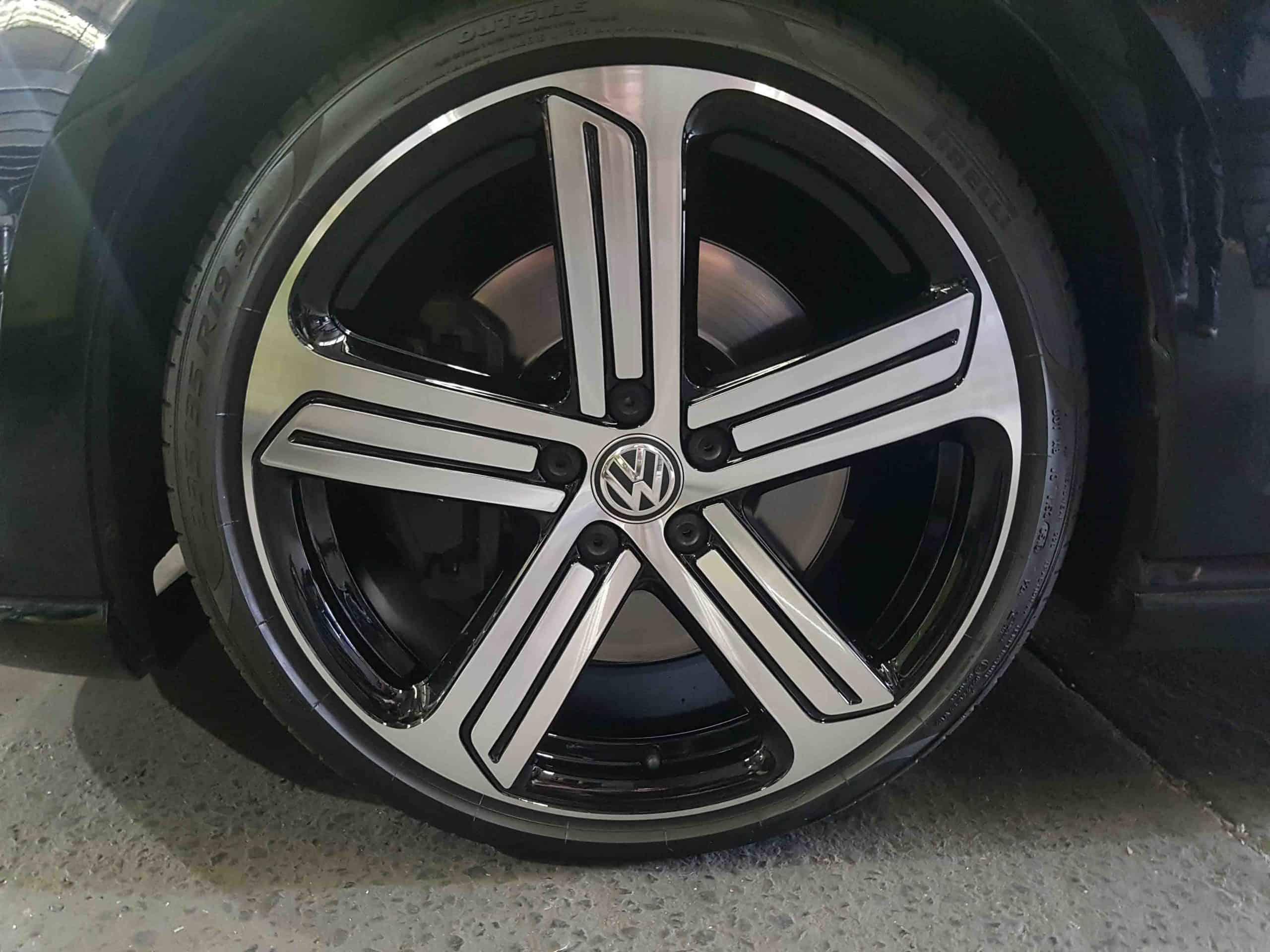 VW Golf GTI wheel repair after