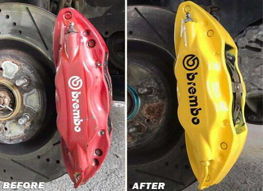 brake caliper paint yellow red