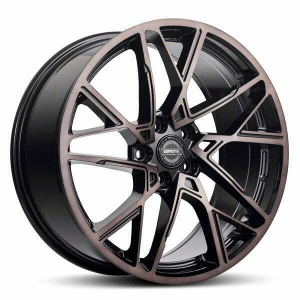 GT form interflow black tinted wheel