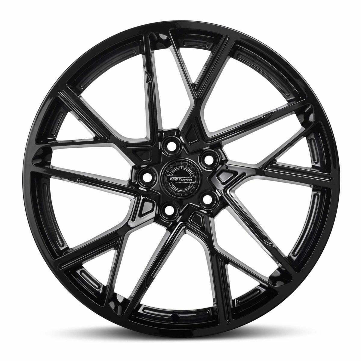 GT form Interflow Gloss Black Wheels Performance Rims