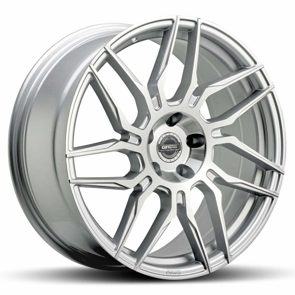 GT form Tycoon Silver Machined Face Wheel Rim Performance wheels