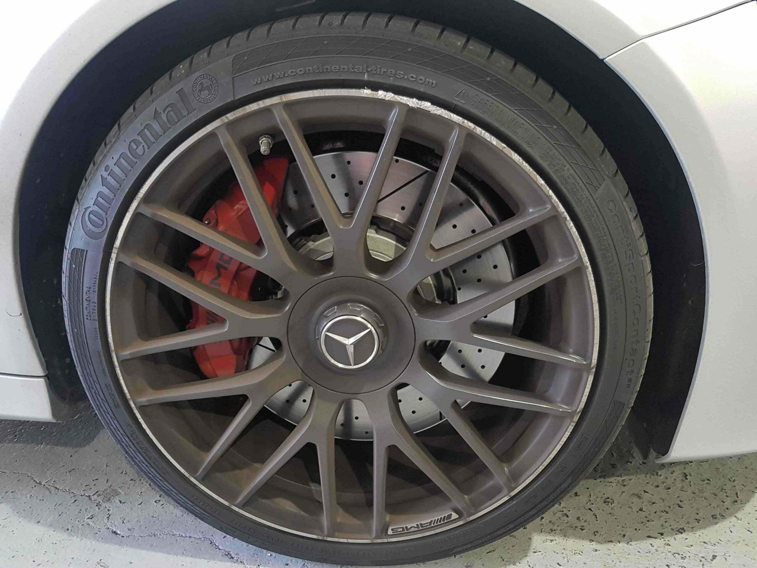 Mercedes AMG alloy wheel repair