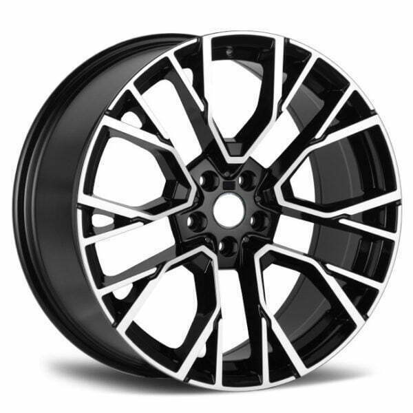 BMW X5 X6 Wheels black machined face