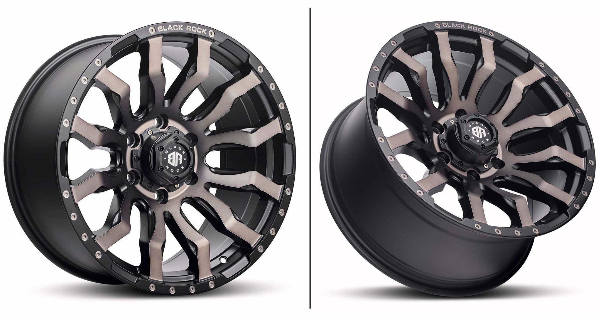 Black Rock Vulcan matte black bronze tint wheel rim