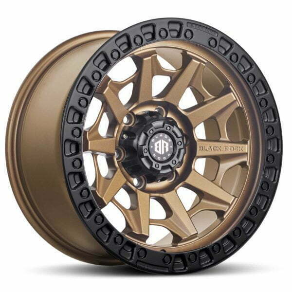 Black Rock Cage Dark Bronze With Black Ring Wheels Off-Road Rims