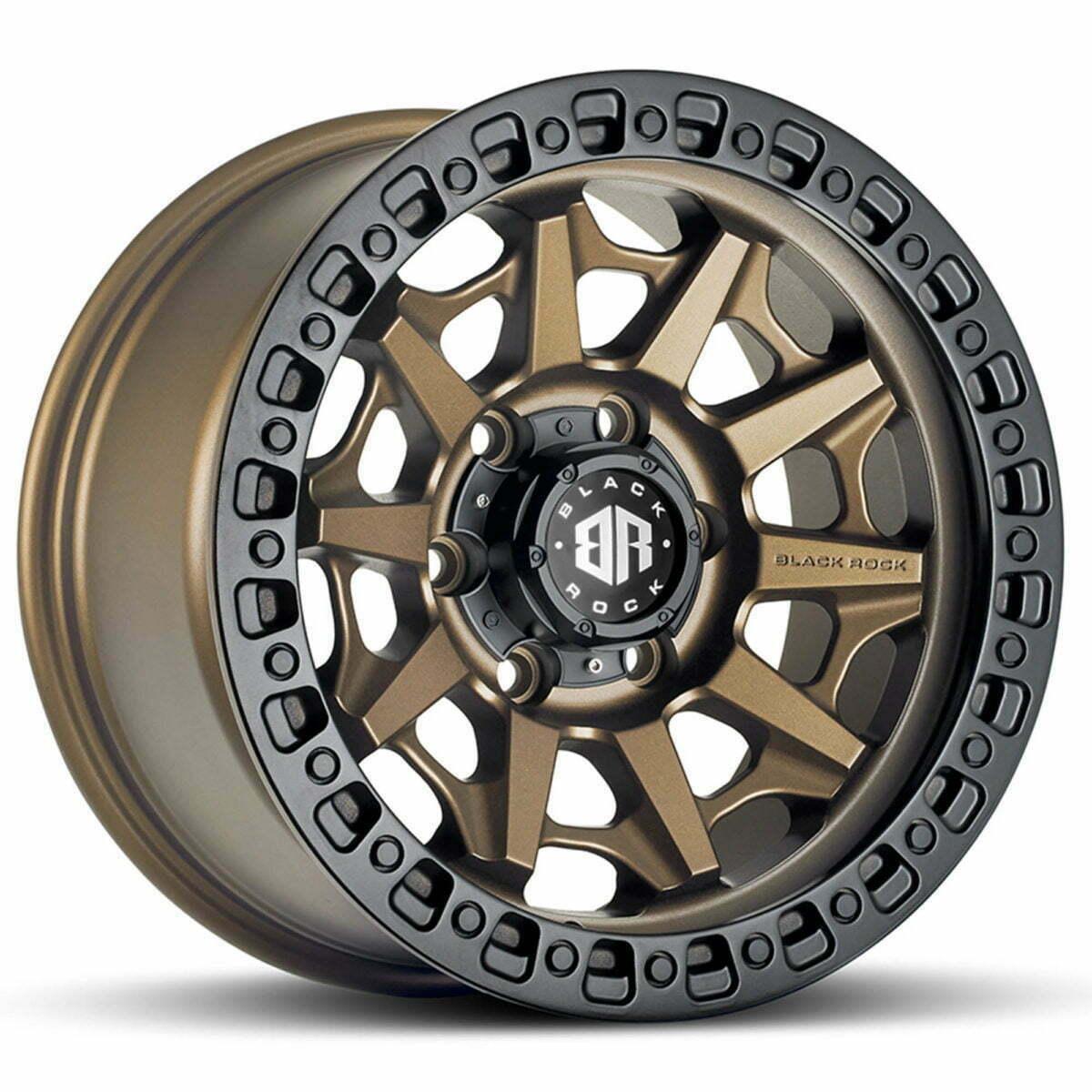 Black Rock Cage Dark Bronze With Black Ring Wheels Off-Road Rims