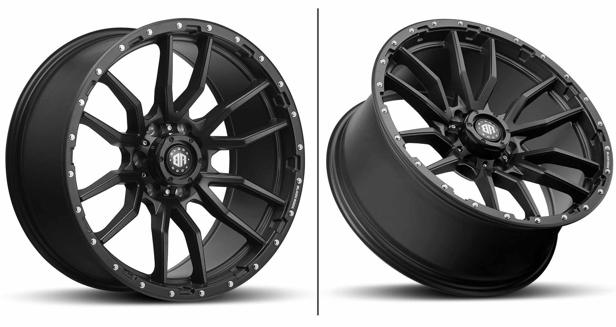 Black Rock Rambler Satin Black wheels 4x4 Rims