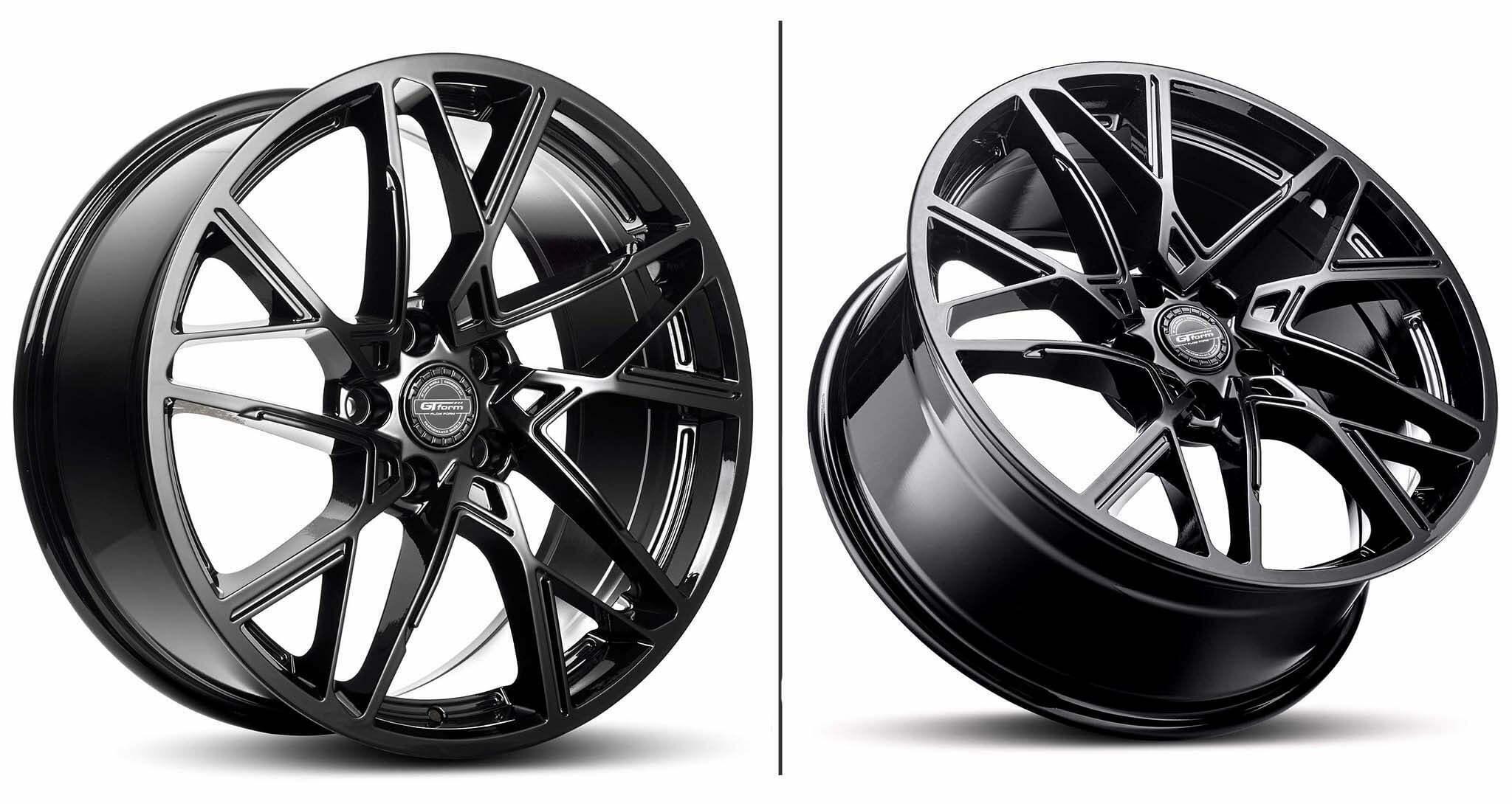 GT Form Interflow Gloss Black Wheel Performance Rims