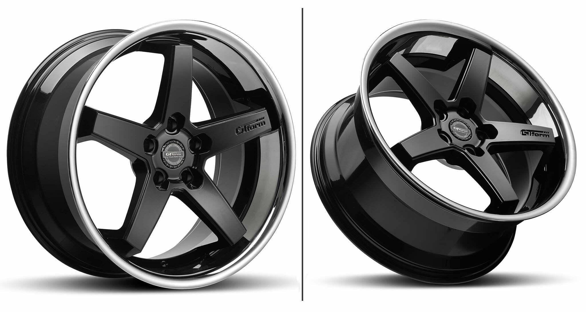 GT Form Legacy Gloss Black Chrome Lip Wheel Performance Rim