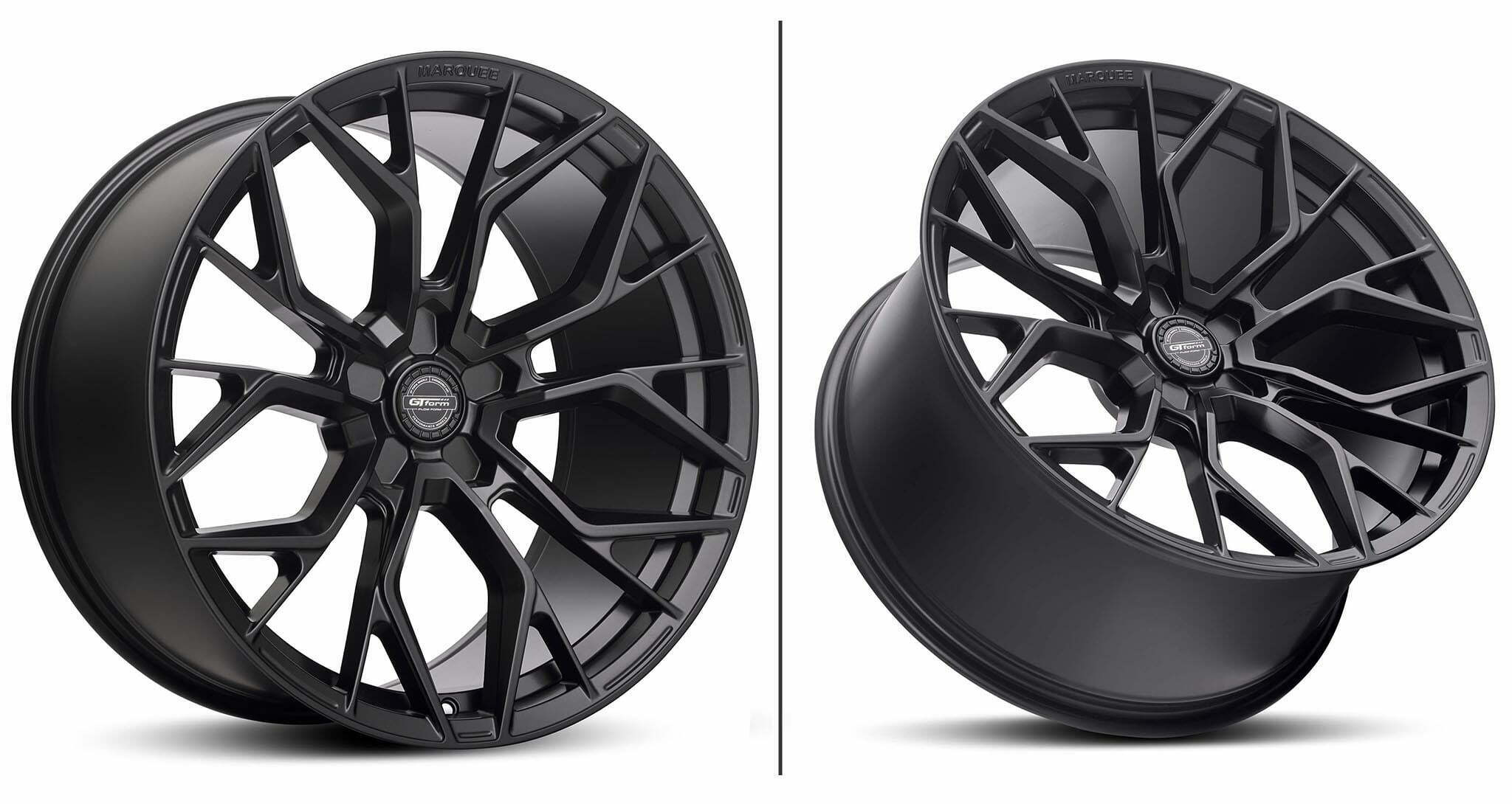 GT Form Manquee Satin Black Wheel Performance Rims