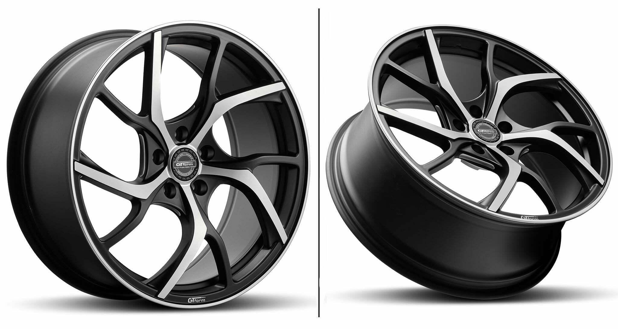 GT Form Revert Satin Black machined Face Wheel Performance Rims
