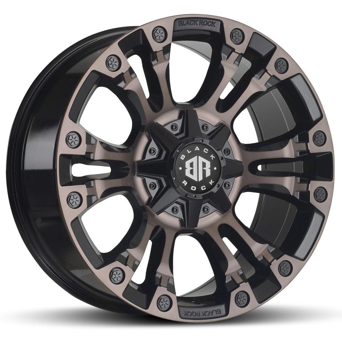 Black Rock Forcer Gloss Black Tinted Wheels 4x4 Rims