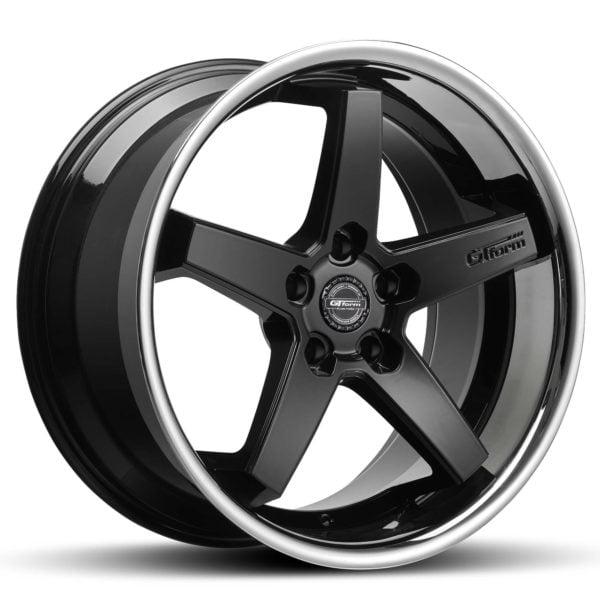 GT Form Legacy gloss black chrome lip wheels car rims