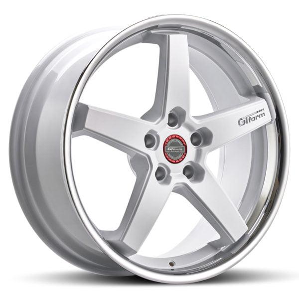 GT Form Legacy gloss white chrome lip wheels car rims