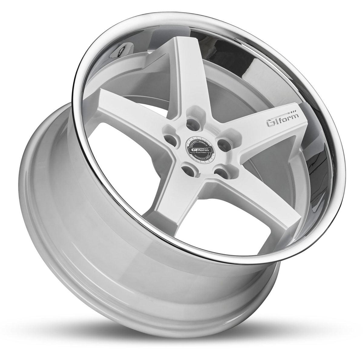 GT Form Legacy gloss white chrome lip wheels car rims performance wheels