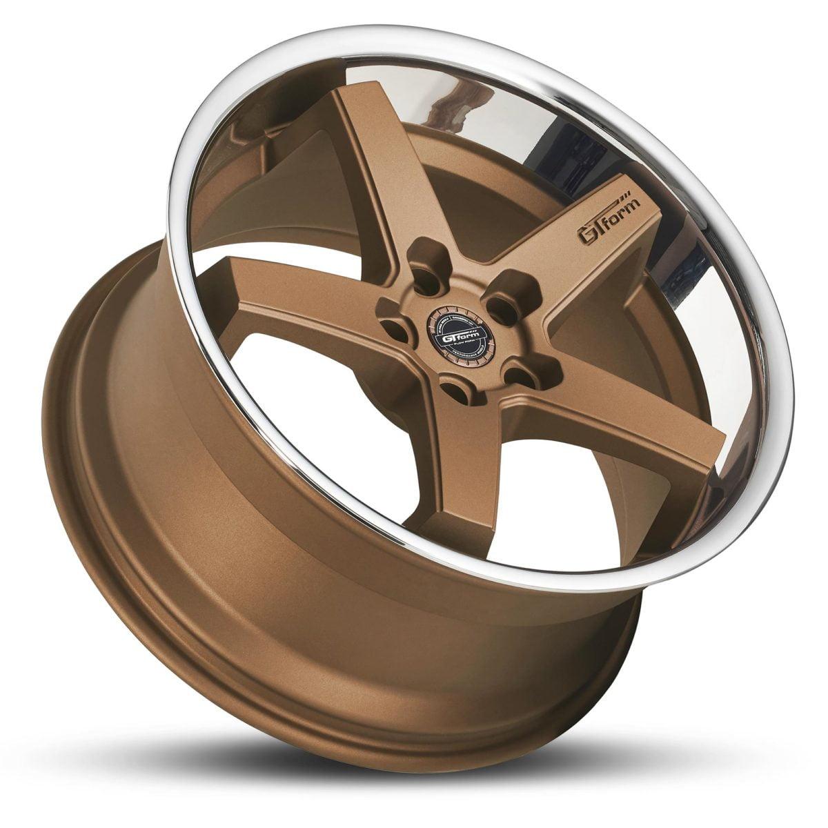 GT Form Legacy matte bronze chrome lip wheels car rims performance wheels