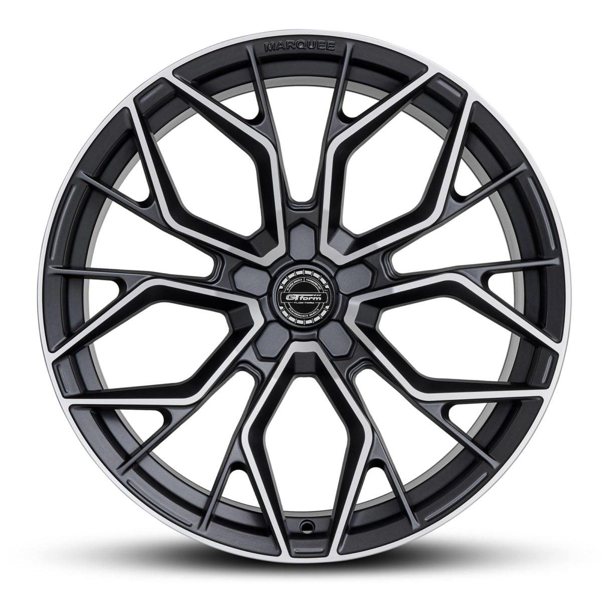 GT Form Marquee Satin Gunmetal Machined Face 20 inch Wheels Car Rims