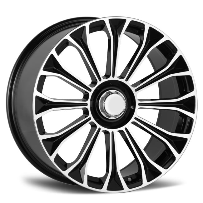 Mercedes Benz Wheels 20 inch black machined face