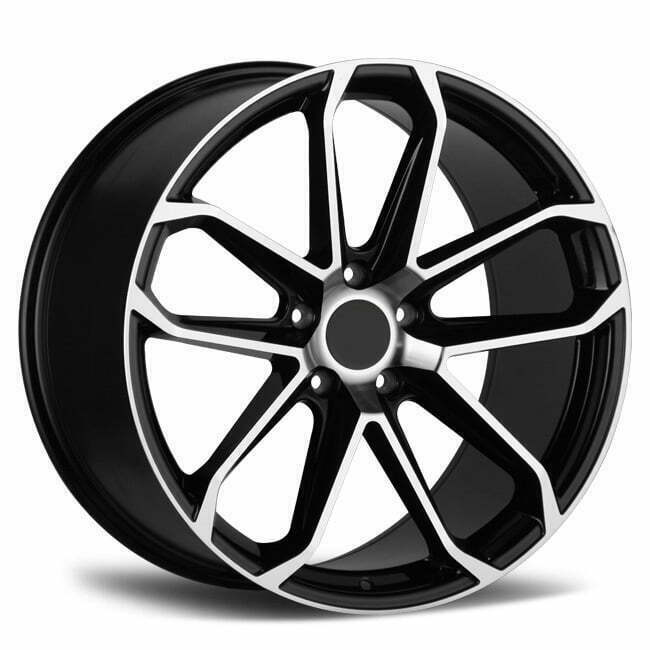 Porsche Cayenne Wheels 22 inch black machined face