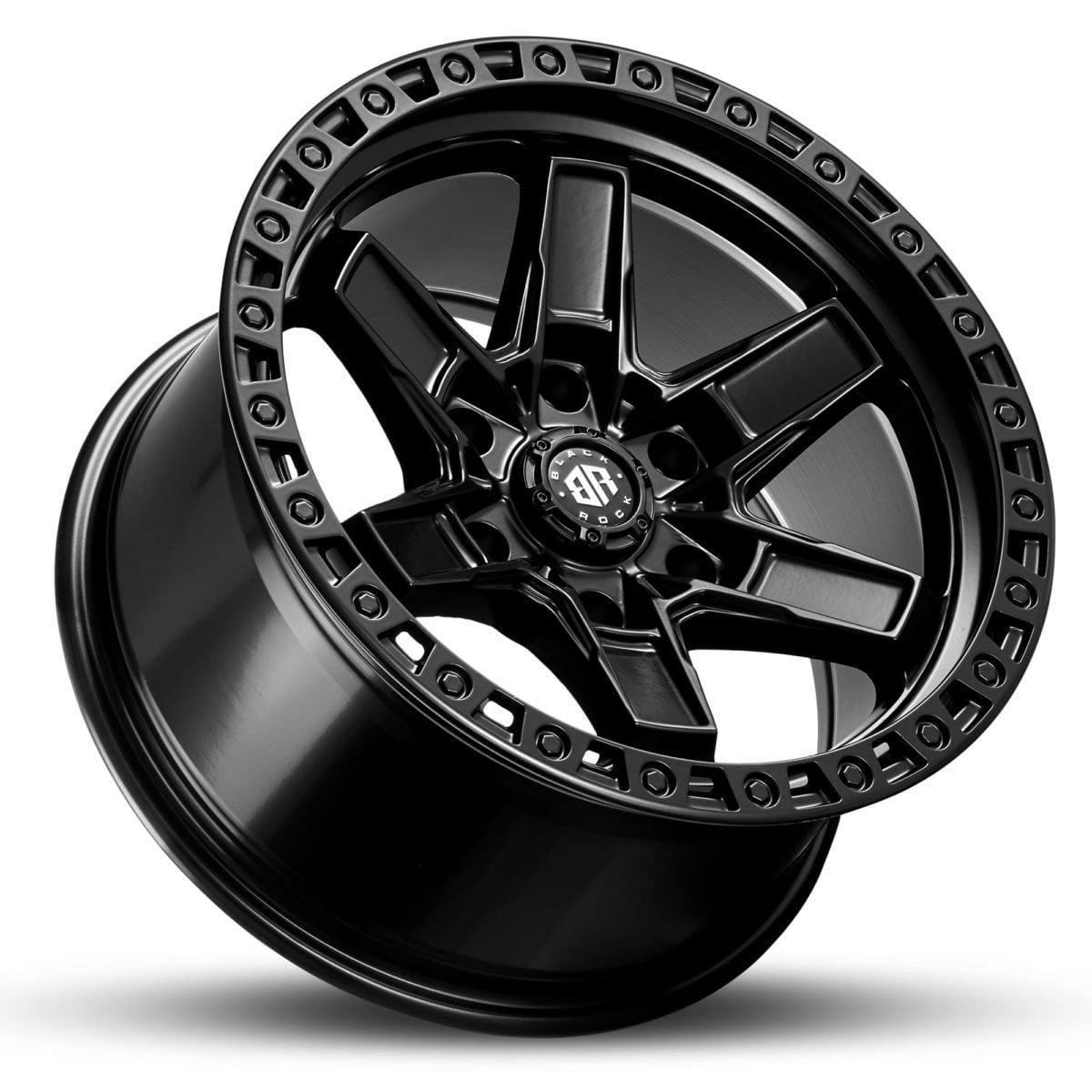 Black Rock Colt Satin Black 17x9 4x4 Rims