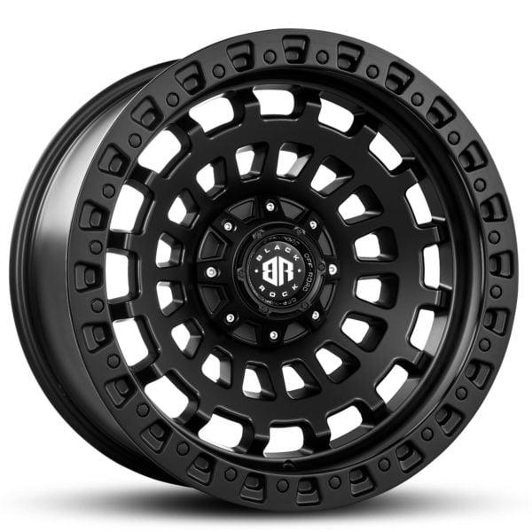 Black Rock HEX Off-Road 20x10 ET-25 Wheels 4x4 Rims
