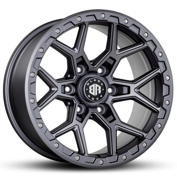 Black Rock Viper Satin Grey 17x9 4x4 Rims