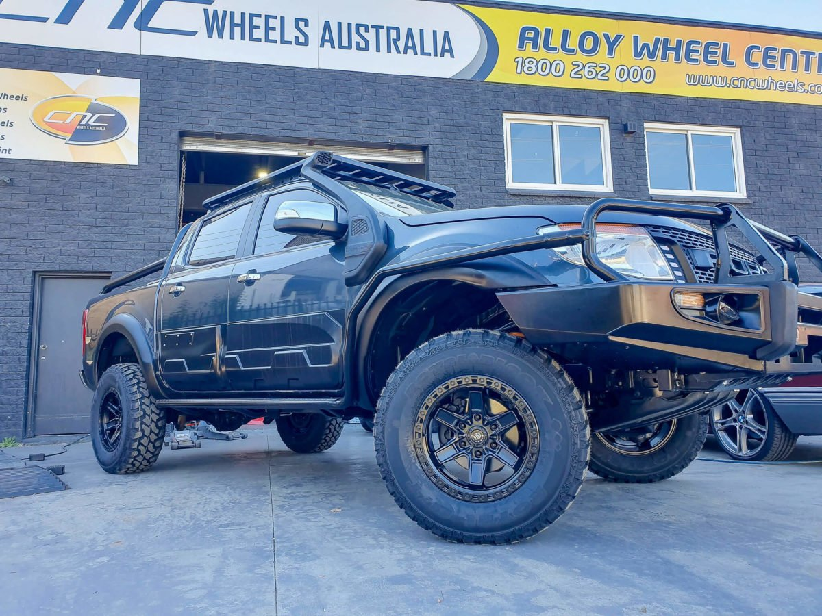 Ford Ranger Wheels Black Rock Colt 17x9 Satin Black 4x4 Rims