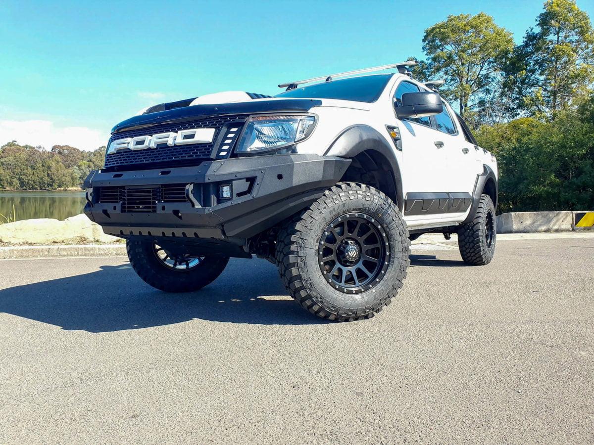 Ford Ranger Wheels Black Rock Omega Satin Black 4x4 Rims