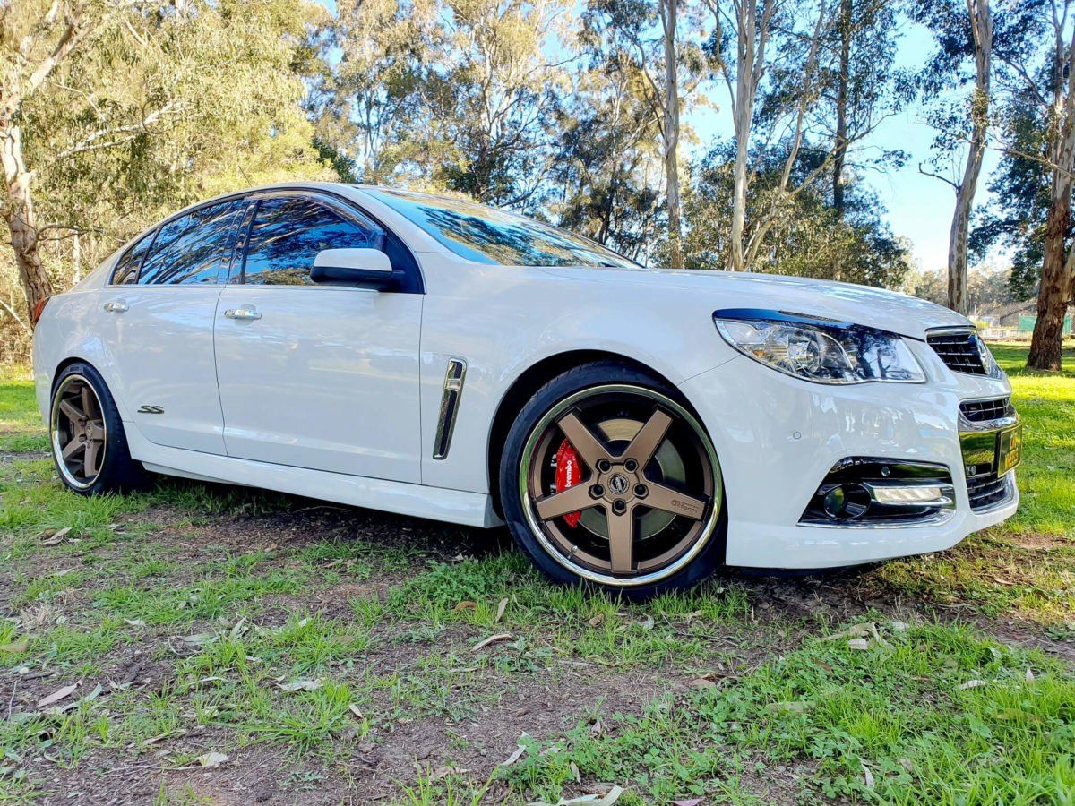 Holden Commodore SSV Rims GT Form Legacy Matte Bronze Chrome Lip 20inch staggered wheels