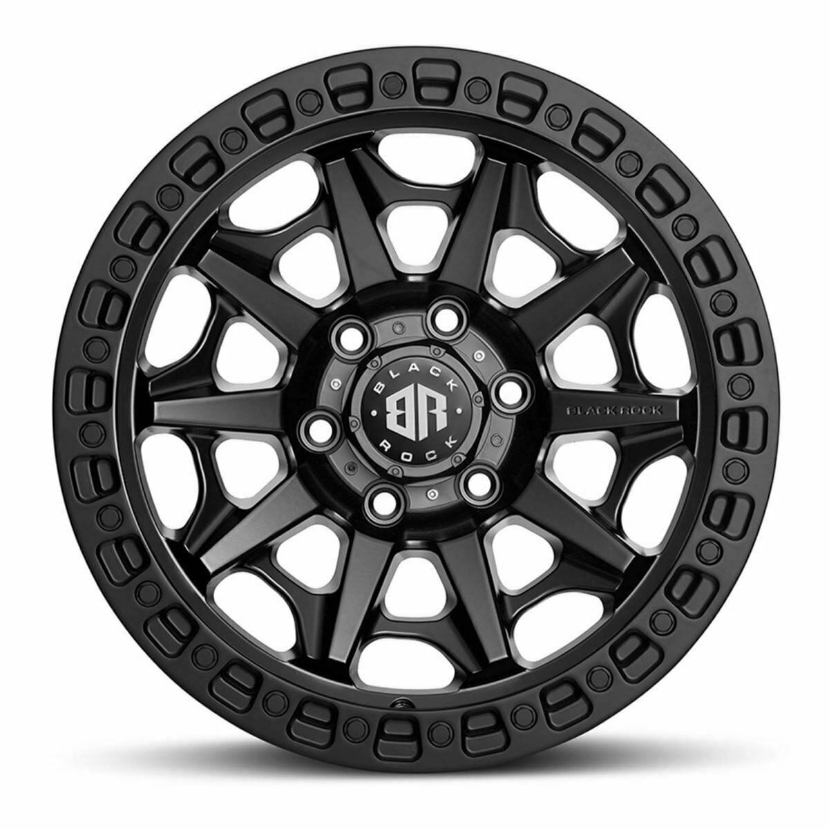 VW Amarok Wheels Black Rock Cage Satin Black Wheels 4x4 Off-Road Rims