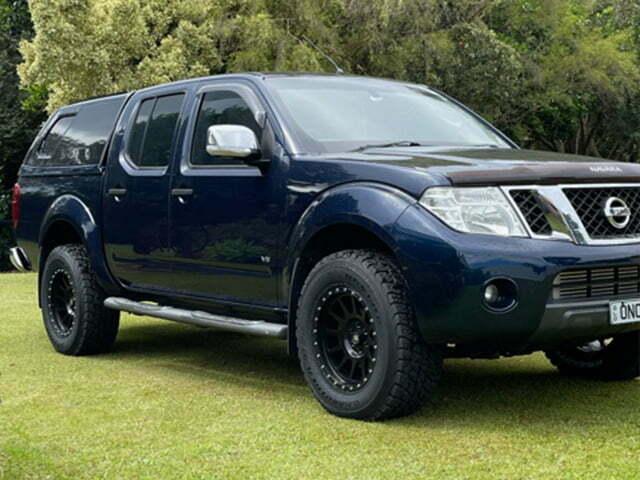 Nissan Navara wheels Black Rock Omega 17x9 satin black 4x4 rims