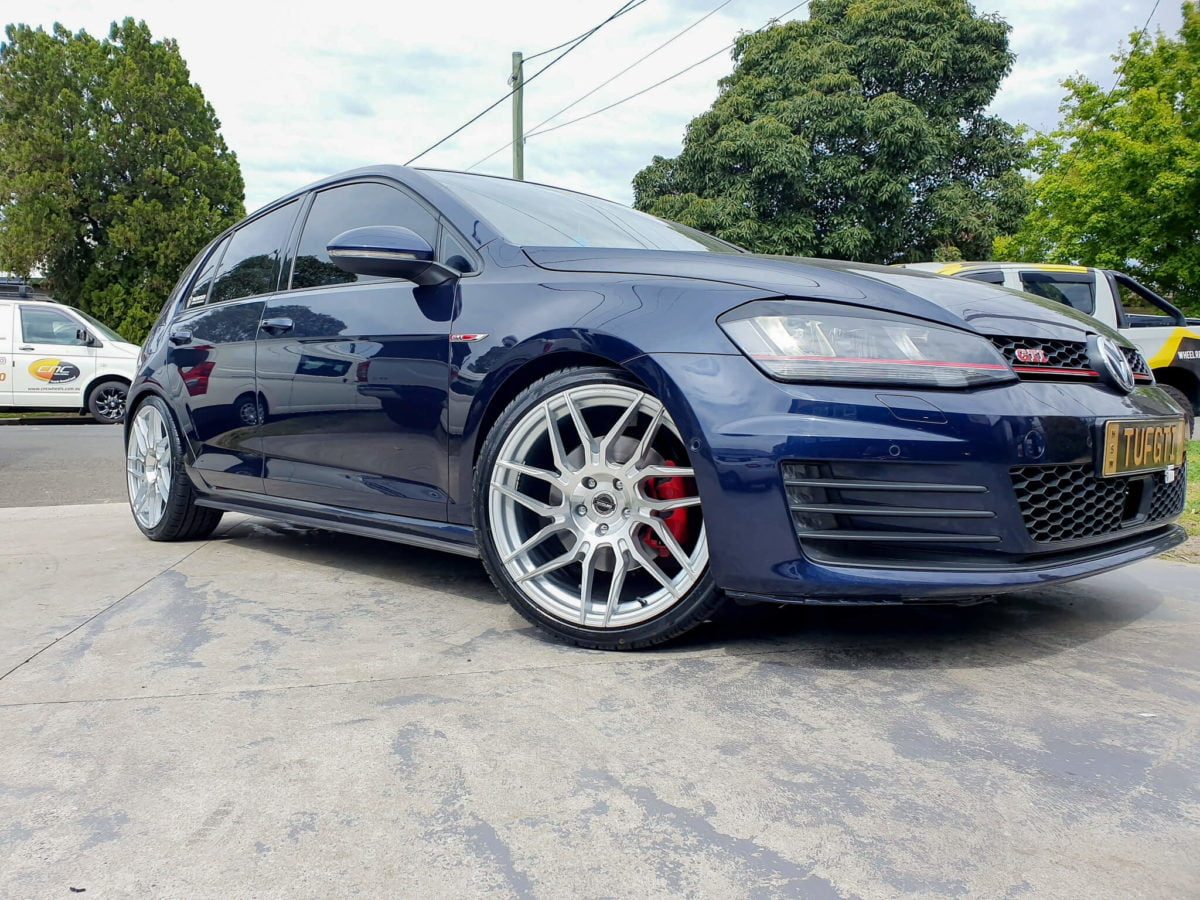 Golf GTI Wheels GT Form tycoon 19x8.5 silver machined face rims