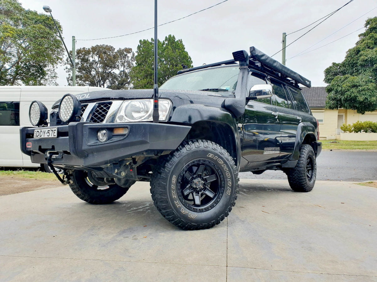 Nissan Patrol Wheels Black Rock Colt 17x9 satin black 4x4 rims