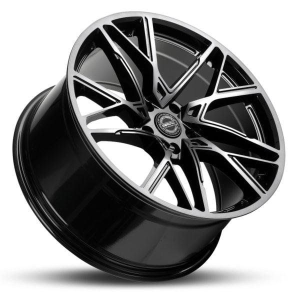 GT Form Interflow gloss black tinted wheels performance rims