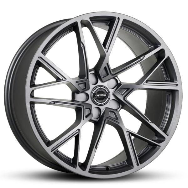 GT Form Interflow satin gunmetal grey wheels performance rims